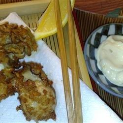 Marvel's Japanese Fried Oysters (Kaki Fuh-rai) with Lemony Tartar Sauce recipe