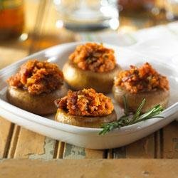 Spicy Sausage Stuffed Mushrooms recipe