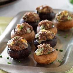 Beef and Blue Cheese Stuffed Mushrooms recipe