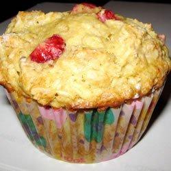 Strawberry Oat Muffins recipe
