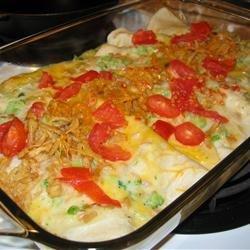 Tuna Broccoli Roll Up Casserole recipe