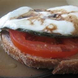 Open Face Mozzarella Sandwich recipe