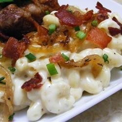 Macaroni and Cheese with Bacon and Onions recipe
