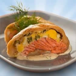 Puff Pastry Salmon Bundles recipe