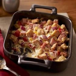 Creamy Ham and Cheese Casserole recipe
