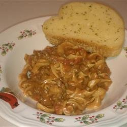 Cheesy Beef Noodle Casserole recipe