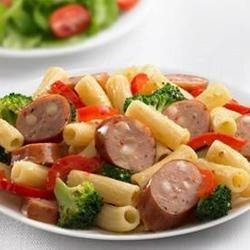 Johnsonville(R) Three Cheese Italian Style Chicken Sausage and Broccoli Rigatoni recipe