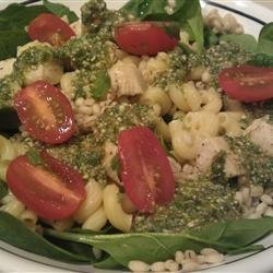 Pasta with Cilantro Pesto and Barley recipe