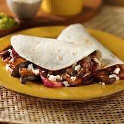 Mushroom and Onion Vegetarian Tacos recipe