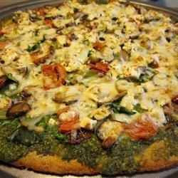 Fresh Pesto Pizza recipe