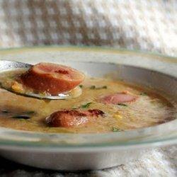 Lentil and Frankfurter Soup recipe