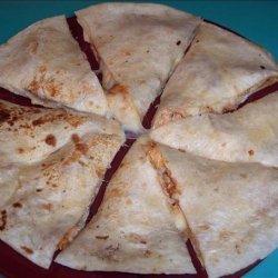 Chicken Barbecue Quesadillas recipe