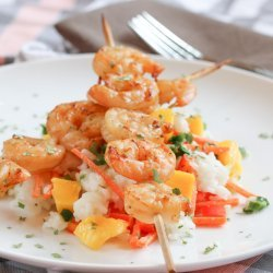 Mango Rice Salad With Grilled Shrimp recipe