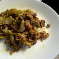 Mild Curry Ground Beef and Cabbage recipe