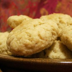 Sugar Topped Butter Cookies recipe