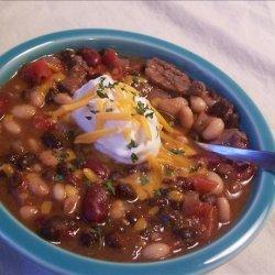 Sirloin Three Bean Chili recipe