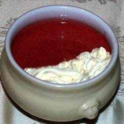 Blended Raspberry Soup recipe