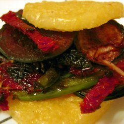 Grilled Polenta Veggie Sandwich recipe
