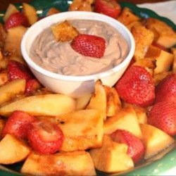 Grilled Fruit With Chocolate Yogurt Dip recipe