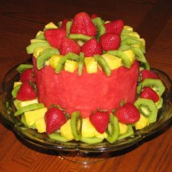 Fruit Cake (Fresh Fruit in the Shape of a Cake) recipe