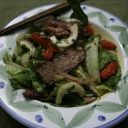 Thai Salad with Grilled Flank Steak recipe