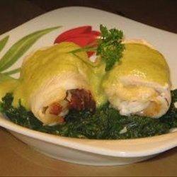 Stuffed Fish Rolls With Asparagus Hollandaise Sauce recipe