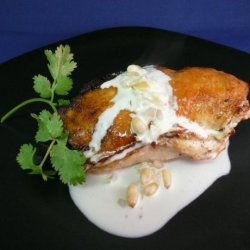 Stuffed Chicken Breast in a White Wine Cream Sauce recipe
