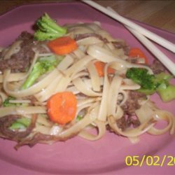Asian Style Pork and Noodle Bowl recipe