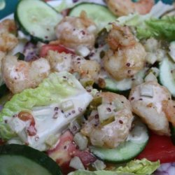 Popcorn Shrimp Salad recipe