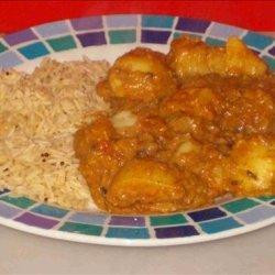 Chicken, Lentil, Potato Curry recipe