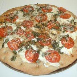 Fresh Mozzarella and Basil Pizza recipe