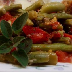 Green Beans With Tomatoes and Oregano recipe