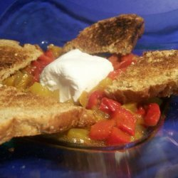 Goat Cheese & Marinated Peppers recipe