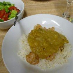 Sauteed Shrimp with Curried Banana Sauce recipe