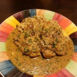 Chicken With Cilantro and Almonds recipe
