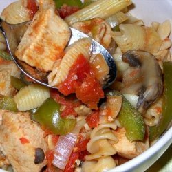 Chicken With Chipotle-Tomato Sauce and Ziti recipe