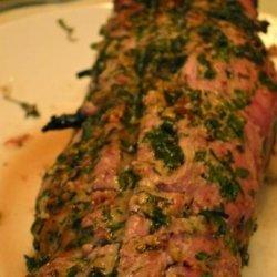 Chimichurri Stuffed Pork Loin recipe
