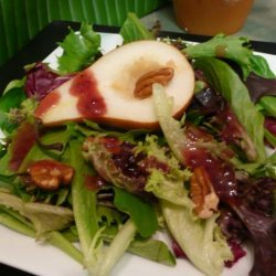 Mixed Greens With Raspberry Walnut Dressing recipe