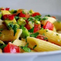 Admired Avocado and Crab Pasta recipe