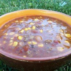 Paula Deen's Taco Soup -- Modified recipe