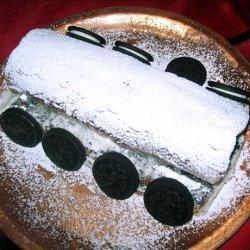Chocolate Oreo Ice Cream Cake Roll recipe