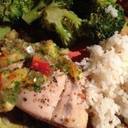 Grilled Yellowtail Tuna and Pineapple Salsa recipe
