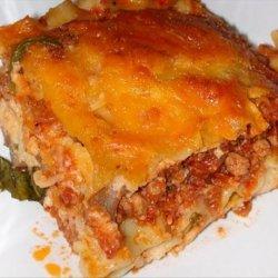 Steak and Spinach Lasagna recipe