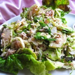Brussels Sprout Salad With Walnuts recipe