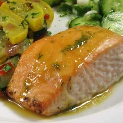 Roasted Salmon With Sweet-N-Hot Mustard Glaze - Robin Miller recipe