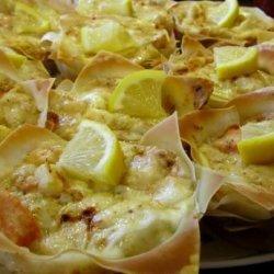 Lasagna Cupcakes Wih Seafood recipe