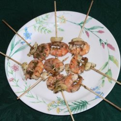Dill and Garlic Shrimp Skewers recipe