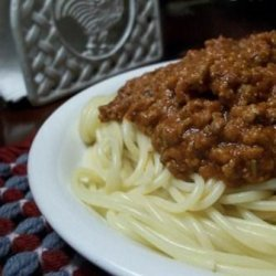 leftovers  Spaghetti Sauce recipe