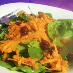 Spinach and Carrot Salad recipe