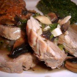 Pork Tenderloin With Sherry-Mushroom Sauce recipe